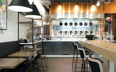 Robots de cocina en el restaurante Spyce