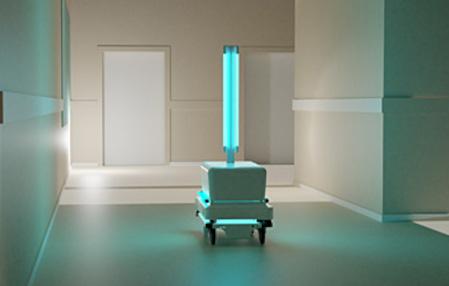 En el Hospital Clínic de Barcelona se prueba robot de desinfección con base MIR